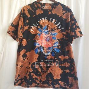 Chemistry mens Tshirt.  Black/orange. Size XL.